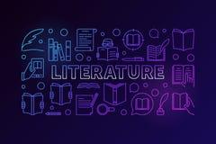 Literatura kolorowy wektorowy sztandar ilustracji