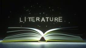 LITERATURA podpis robić jarzyć się listy od otwartej książki świadczenia 3 d royalty ilustracja
