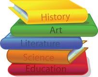 Literature books stock illustration