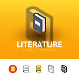 Literature icon in different style Royalty Free Stock Photography