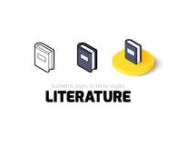 Literature icon in different style Stock Image