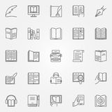 Literature icons set Royalty Free Stock Images