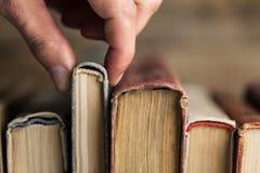 Literature. Business study sign old classics bookshelf royalty free stock photos