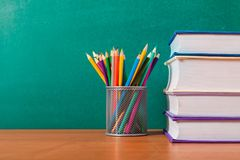 Literature. Educational nobody green educate red study Stock Photo