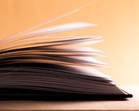 Literature. Heap page decoration document print nobody Royalty Free Stock Photos