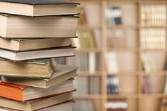 Literature. Stack school closeup  page wisdom Stock Image