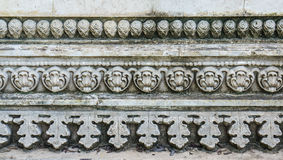 Literature and stucco designs of Thai. Stock Photography