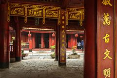 Literature temple Van Mieu in Hanoi Stock Image