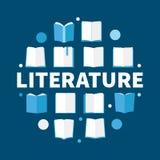 Literatuur om vlakke vectorillustratie - modern symbool stock illustratie