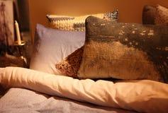 Literie confortable et élégante Photographie stock
