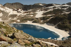 Literola lake in Aragon Pyrenees Stock Images