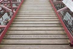 Literowania unesco puente Vizcaya mundial na zawieszenie moście bizkaia puente de Vizcaya między Getxo i zdjęcie royalty free