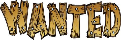 literowanie chcieć drewnianego Fotografia Stock