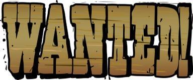 literowanie chcieć drewnianego Zdjęcia Royalty Free