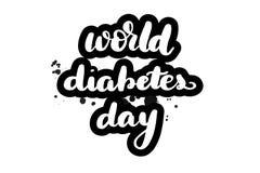 Literowanie cukrzyc światowy dzień royalty ilustracja