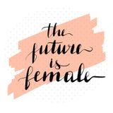 Literowanie inskrypcja przyszłość jest royalty ilustracja