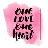 Literowanie inskrypcji jeden miłość jeden royalty ilustracja