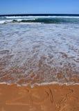 2017 literowanie na plaży Zdjęcie Stock