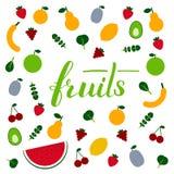 Literowanie owoc Fotografia Royalty Free