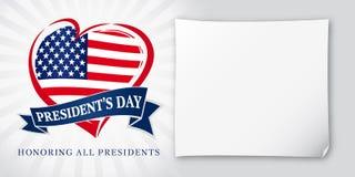 Literowanie prezydentów dnia kartka z pozdrowieniami światła gwiazdy Fotografia Royalty Free