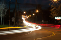 夜Lites 库存照片