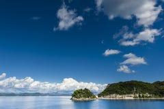 litet adriatic hamnhav Royaltyfri Fotografi