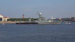 Litet anti--ubåt skepp 'Kazanets ', petersburg saint lager videofilmer