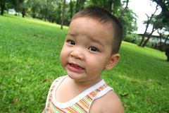 litet barn för 1 pojke Royaltyfri Foto