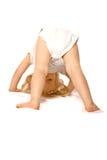 litet barn för flicka polly rolly Arkivbild
