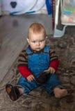 Litet barncloseup Fotografering för Bildbyråer