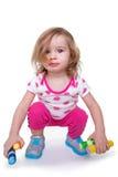 Litet barnaktivitet Arkivfoton