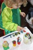 Litet barnmålning Fotografering för Bildbyråer