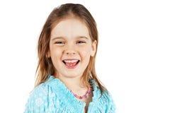 Litet blont skratta för flicka Royaltyfri Fotografi
