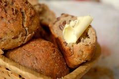 Litet bröd med linfrö Royaltyfria Foton