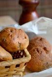 Litet bröd med linfrö Arkivfoton