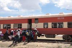 Litet drevstopp i Bolivia, Sydamerika Fotografering för Bildbyråer