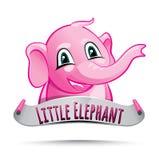 Litet elefanttecknad filmtecken Arkivfoton