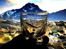 Litet exponeringsglas för bruk i drinkar Royaltyfria Bilder