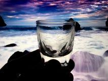 Litet exponeringsglas för bruk i drinkar Fotografering för Bildbyråer