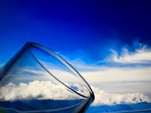 Litet exponeringsglas för bruk i drinkar Arkivbilder