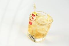 Litet exponeringsglas med coctailen Royaltyfria Foton