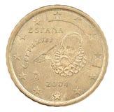 50 litet för förstoring för euro för centmyntdof mikrotimes därför mycket Arkivfoton