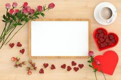 Litet för valentin` s för vitt bräde tema för dag Royaltyfria Foton