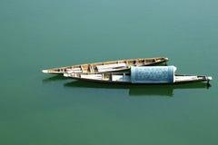 Litet fartyg på Mekonget River Arkivbild