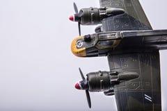 Litet flygplan, flygplanleksaker, luftkämpar Fotografering för Bildbyråer