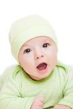 Litet gulligt nyfött behandla som ett barn barnet Fotografering för Bildbyråer