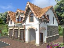Litet hemtrevligt hus Arkivfoto