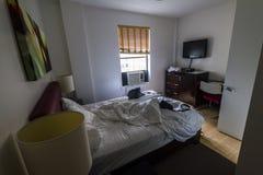 Litet hotellrum i Manhattan Royaltyfria Foton