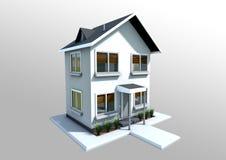 litet hus royaltyfri illustrationer
