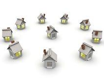 litet hus Arkivfoton